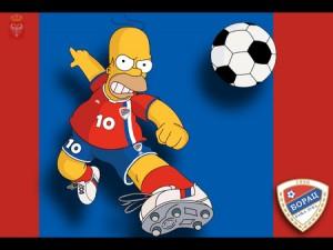 borac banja-luka with Homer Simpson